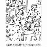 Passover Coloring Printables Haggadah Pdf sketch template