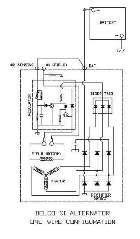 delco cs alternator wiring diagram delco remy regulator