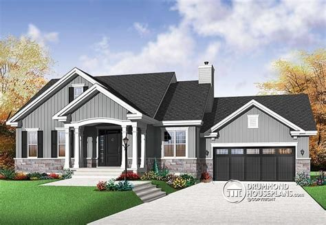 bungalow garage plans w3236 v1 craftsman bungalow open living concept two