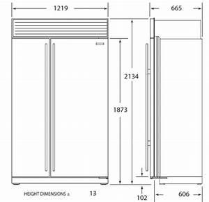 Refrigerador Side by Side Empotrable Sub Zero de Top Kitchen