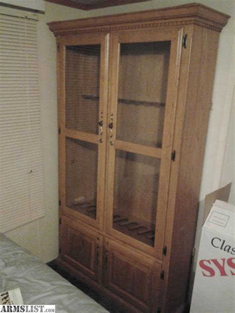 cabinet doors for sale armslist for sale large wooden gun cabinet w glass doors