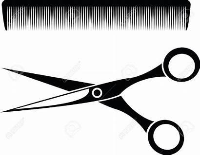 Scissors Hair Comb Clipart Tools Barber Clip