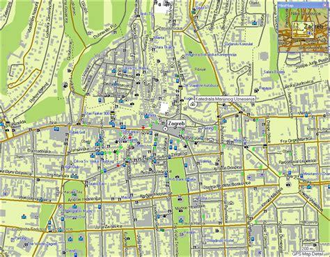zagreb map  zagreb satellite image