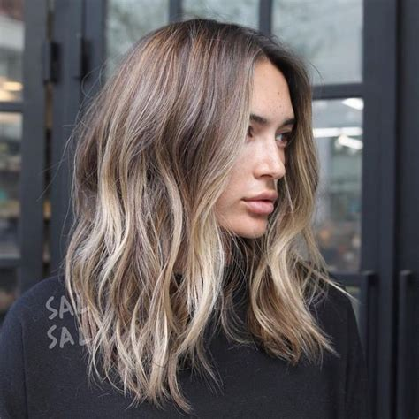 blond cendr 233 sur cheveux ch 226 tains everything hair in 2019 balayage hair hair styles hair