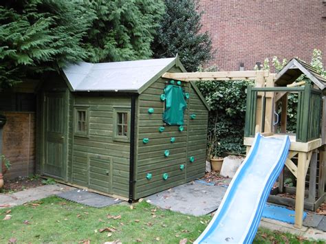 playhouse garden shed storage and climbing den playhouse combo playhouses