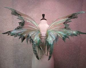 Triple fantasy adult fairy wings green/blue by Fairytrade ...