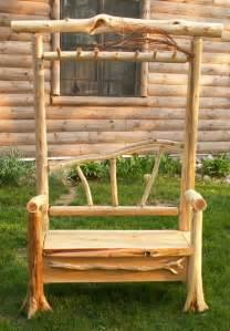 Cedar Log Bench Plans