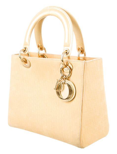 christian dior medium lady dior bag handbags chr  realreal