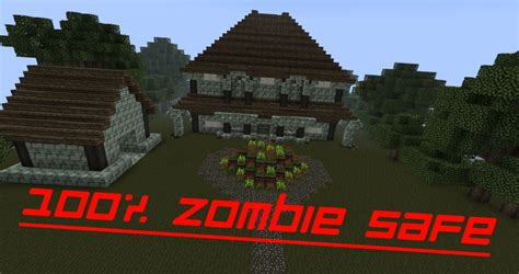 xamans medieval styled zombie safe villa minecraft project