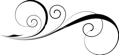 Decorative Swirls - decorative swirl vector royalty free stock image
