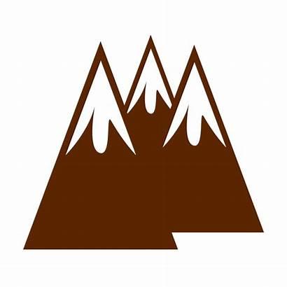 Mountain Mountains Clip Clipart Brown Peak Snowy