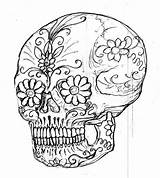 Coloring Skull Sugar Printable 8x10 Adult Comments Template sketch template