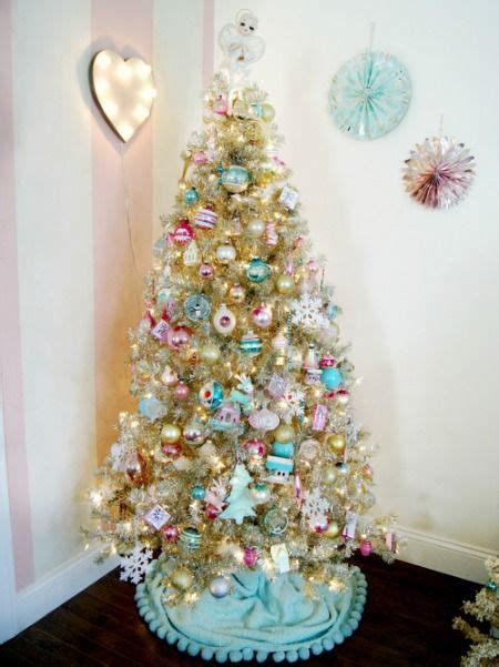 pastel ornaments   champagne christmas tree everyday