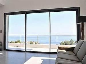 Porte Fenetre Galandage Prix : baie vitr e 3 vantaux prix porte fenetre coulissante patcha ~ Premium-room.com Idées de Décoration