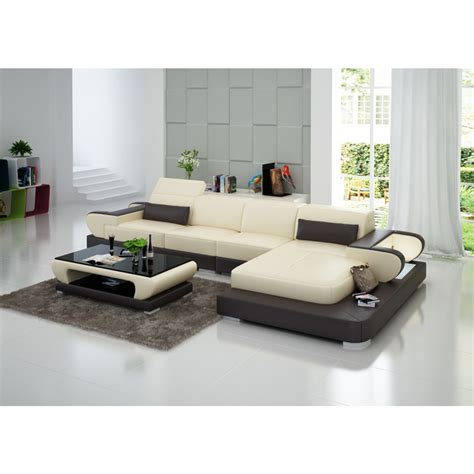 canapé d angle cuir beige canapé d 39 angle en cuir magnolia éclairages pop design fr