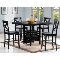 black wood 5 piece counter height dining set 16408271