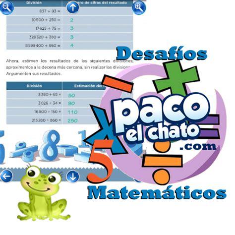 Desafos matemticos matematicas 6 grado contestado paco el chato. Paco El Chato 5 Grado Español Respuestas - Libros Favorito
