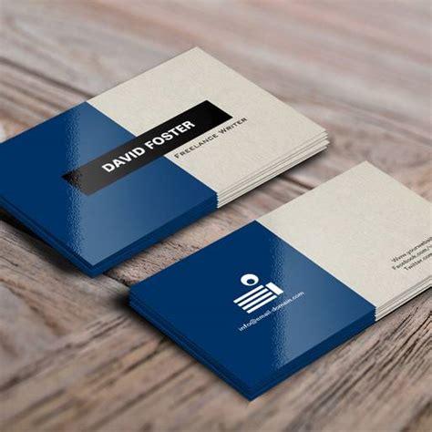 freelance writer simple elegant stylish business cards
