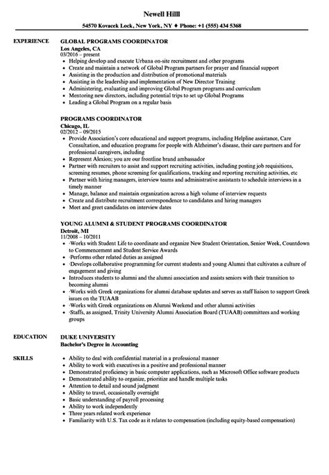 Resume Writing Programs by Sle Resume Education Program Coordinator