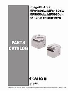 Parts Imageclass Mf6100 Mf5900 D1300 Pc