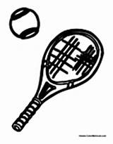 Tennis Racket Coloring Ball Balls Clipart Equipment Sheets sketch template