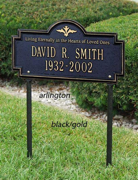 decorative memorial marker personalized lawn plaque