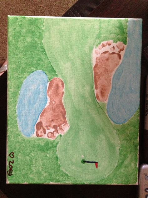 golf  footprints  fathers day crafts