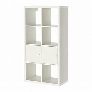 KALLAX Tagre Avec Portes Blanc 77x147 Cm IKEA