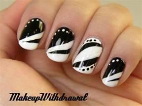 Unique black and white nail art designs
