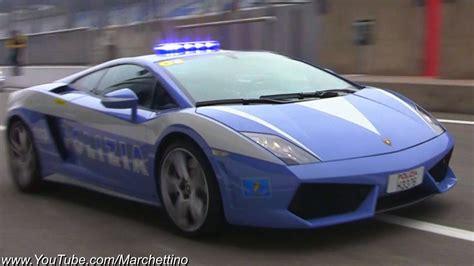 lamborghini gallardo lp  police car  action youtube