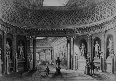 libreria lithos roma lithograph representing the interior of the sculpture