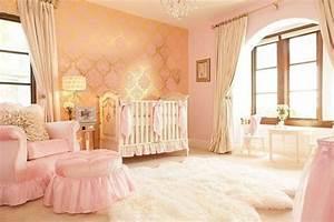 Tapete Babyzimmer Mädchen : luxus einrichtung babyzimmer m dchen rosa gold tapete barockmuster babyzimer m dchen ~ A.2002-acura-tl-radio.info Haus und Dekorationen
