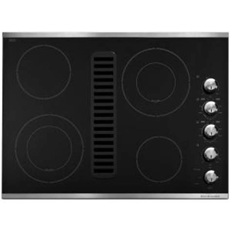 electric cooktop with vent kitchenaid 30 in downdraft vent ceramic glass electric