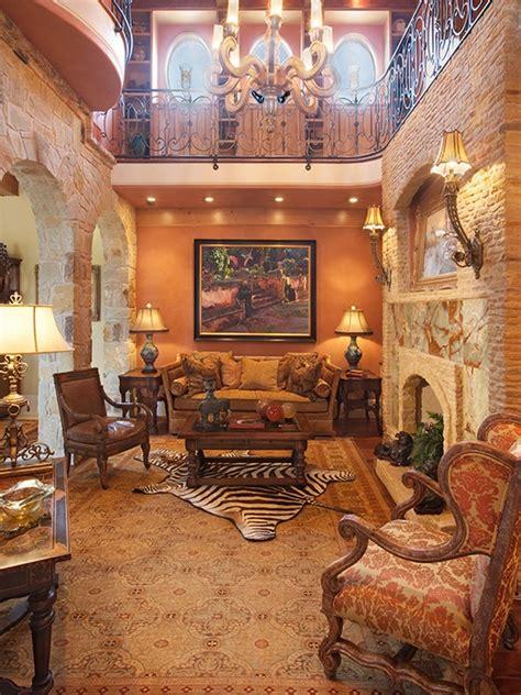 modern  traditional mediterranean living room design ideas