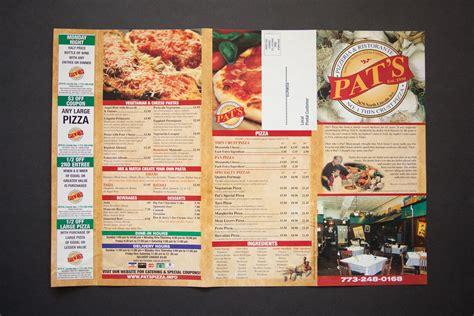 Pat's Pizzeria & Restaurante Menu  Us Pizza Museum