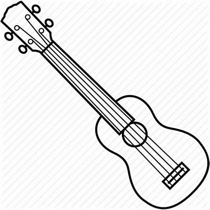 Guitar Acoustic Musical Drawing Line Ukelele Instrument