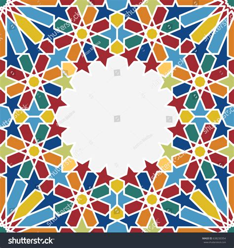 islamic geometrical pattern moroccan tile background stock