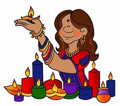Diwali Clipart India Clip Hinduism Cliparts Hindu