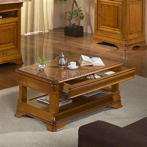 decoration salon salle a manger cuisine table basse de salon merisier massif style louis philippe