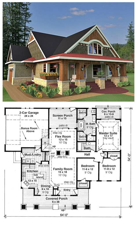 craftsman houseplans bungalow cottage craftsman traditional house plan 42618
