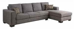 coaster norland 500311 grey fabric sectional sofa steal With grey cloth sectional sofa