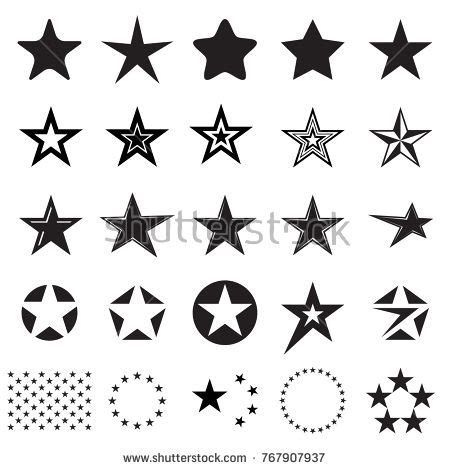 star icons set   star symbols isolated