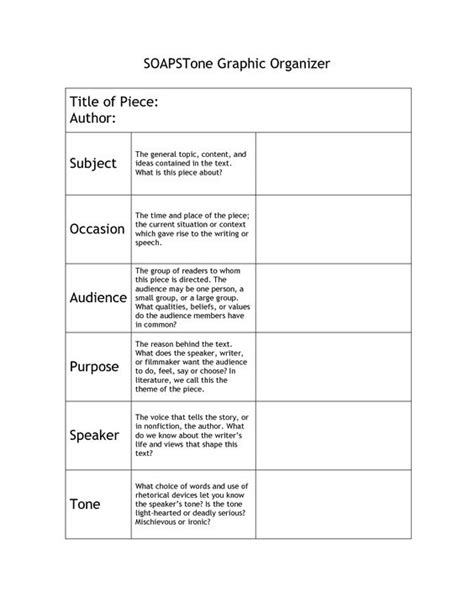 Image Detail For Soapstone Graphic Organizer  Education  Pinterest  Graphic Organizers