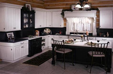 black  white country kitchen home trendy