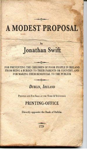 humor  satire satire  modest proposal  jonathan swift