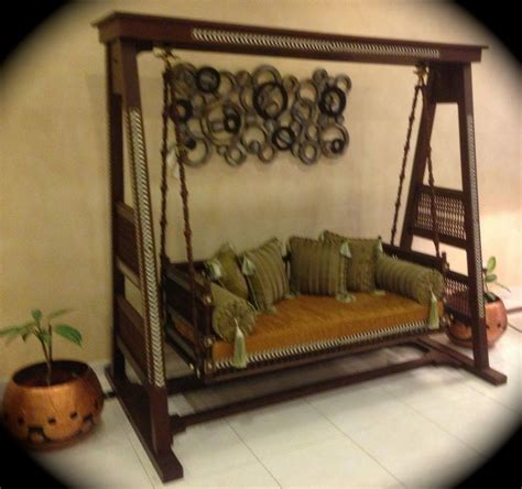 stunning indoor swing jhoola wooden carved