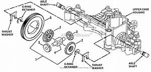 Snapper K55 Tuff Torq Hydrostatic Transaxle Parts Diagram For Differential Gear Assembly