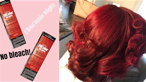How To Dye Your Hair Red Without Bleach Ft. Loreal Hicolor