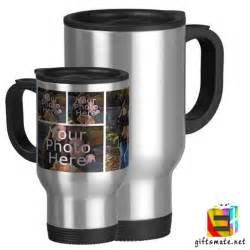 Baby Shower Dad Gifts by Personalized Photo Silver Travel Mug Giftsmate