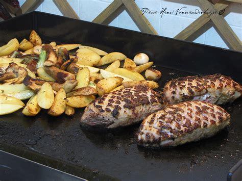 cuisine plancha recette plancha de magret de canard sauce foie gras quot primeur